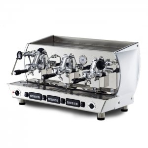 La Nuova Era Altea 3 group espresso machine side view chrome model
