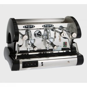 La Pavoni Bar Revolution SV 2 group espresso machine side view black and chrome model