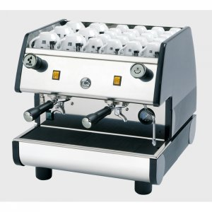 La Pavoni Cafe M 2 group espresso machine left side view chrome model