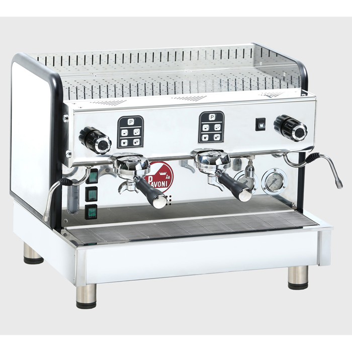 La Pavoni Crema M 2 group espresso machine right side view chrome model