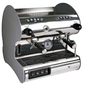 La Pavoni Hotel Hard V 2 group espresso machine right side view chrome model