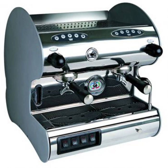 La Pavoni Hotel Revolution V 2 Group espresso machine Side View silver model