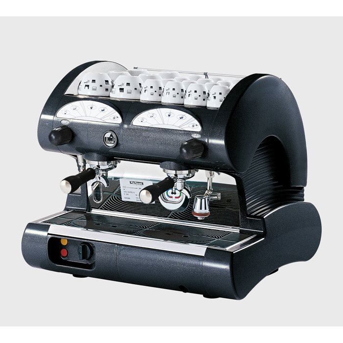 La Pavoni Hotel V 2 group espresso machine side view black model