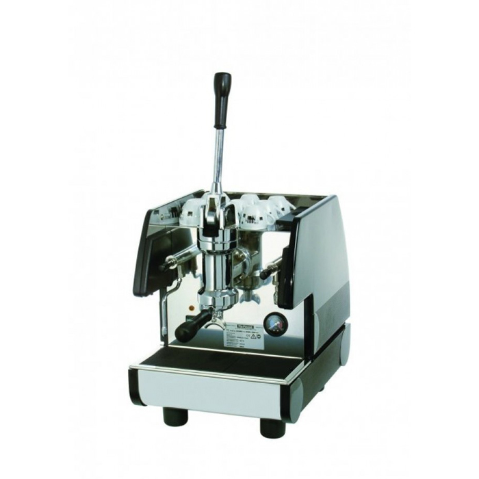 La Pavoni Pub EL 1 Group espresso machine side view chrome model