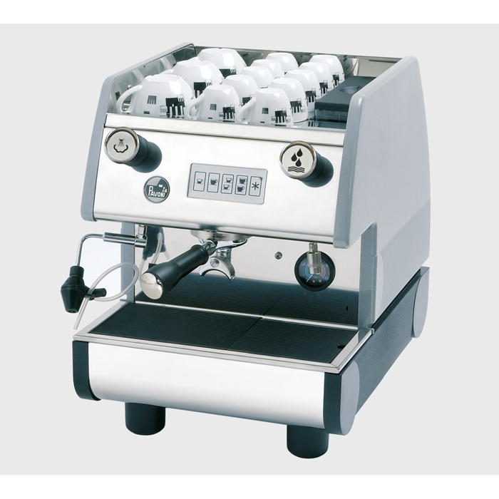La Pavoni Pub EV 1 Group espresso machine Side View Silver Model