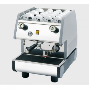 La Pavoni Pub M 1 Group espresso machine Side View Silver Model
