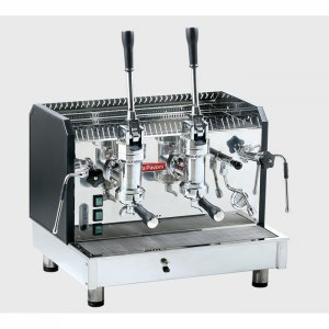 La Pavoni Vasari L 2 Group espresso machine Side View black and chrome model