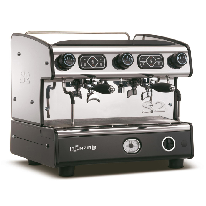 La Spaziale S2 2 Group Espresso Machine Side View black and silver model