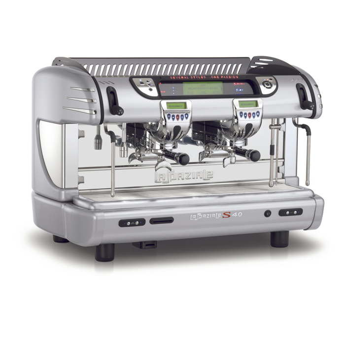 La Spaziale S40 Seletron 2 Group espresso machine Side View silver model