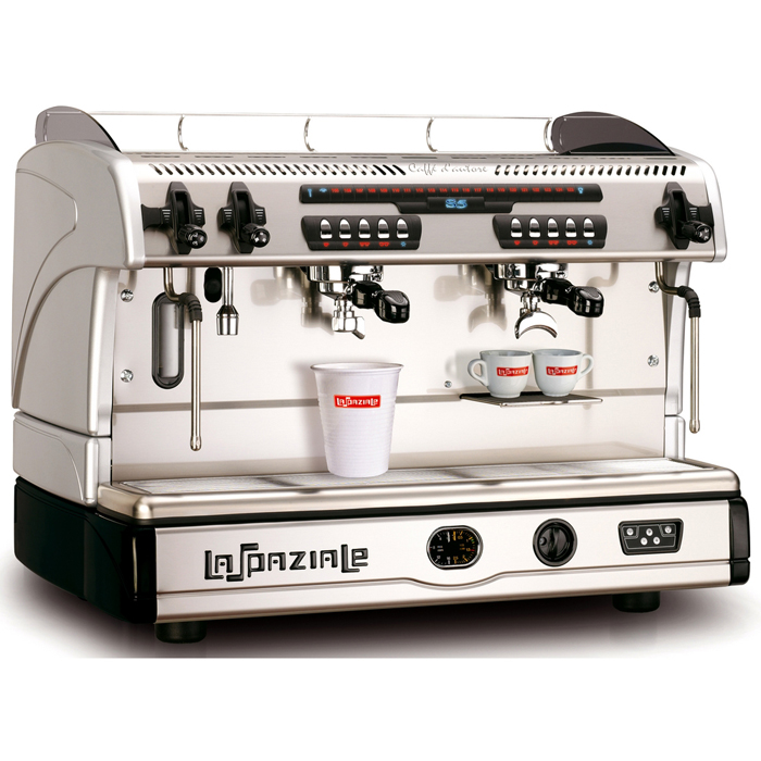 La Spaziale S5 EK 2 Group espresso machine Side View Silver Model