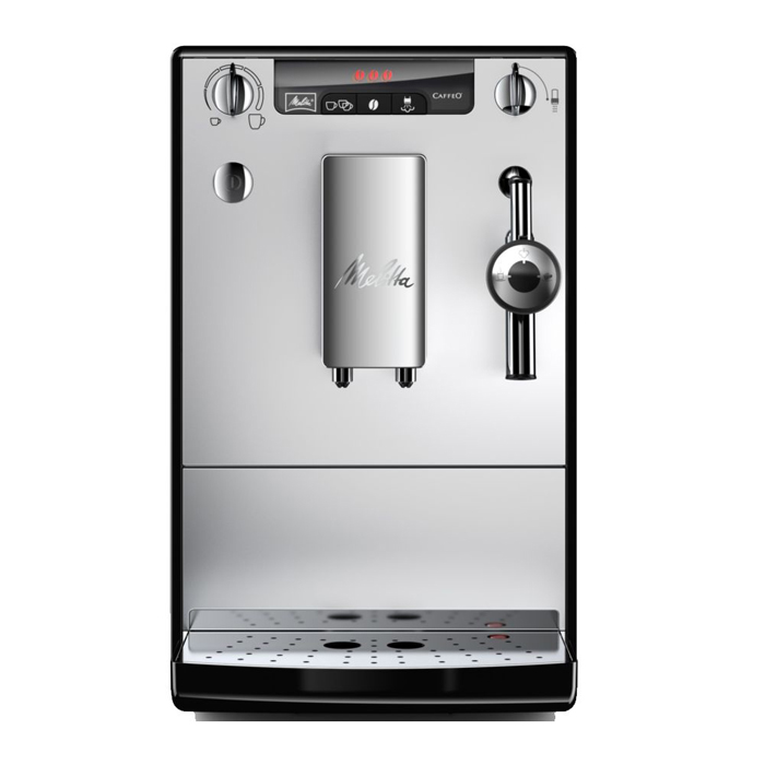 Melitta Caffeo Solo Perfect Milk E957 bean to cup coffee machine Front View Silver Model