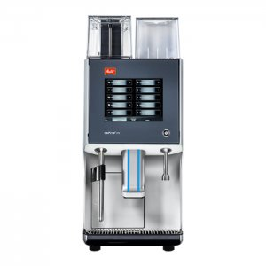 Melitta Cafina XT5 bean to cup coffee machine Front View grey and silver model