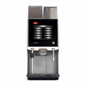 Melitta Cafina XT6 Bean to cup coffee machine Front View black and silver model