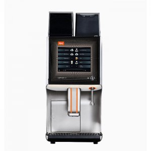 Melitta Cafina XT7 bean to cup coffee machine Front View black and silver model