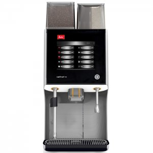 Melitta XT5 bean to cup coffee machine Front View black and silver model