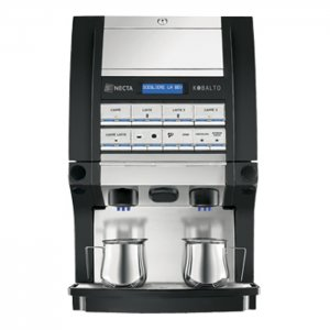 Necta Kobalto bean to cup coffee machine front view black model
