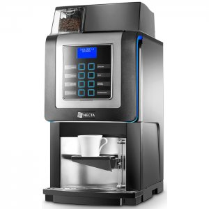 Necta Korinto Prime bean to cup coffee machine side view black model