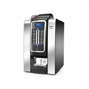 Necta Krea bean to cup coffee machine Side View black and silver model