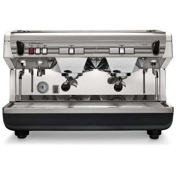 Nuova Simonelli Appia II Baristas style coffee machine with 2 groups in silver