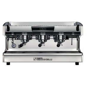 Nuova Simonelli Aurelia 3 group espresso machine front view chrome model