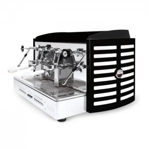 Orchestrale Phonica 2 group espresso machine side view white and black model