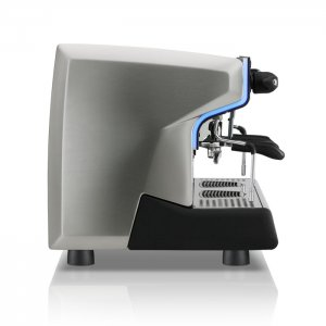 Rancilio Classe 9 2 group espresso machine side view silver model