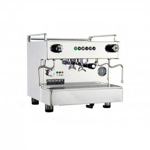 Rocket Espresso Boxer 1 group espresso machine side view chrome model