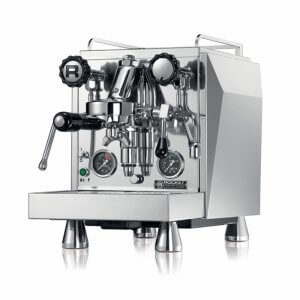 Rocket Espresso Giotto Evoluzione Type R 1 Group espresso coffee machine Side View Silver Model