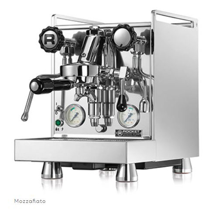 Rocket Espresso Mozzafiato Type V 1 1 group espresso machine side view chrome model