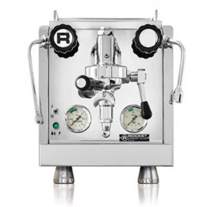 Rocket Espresso R58 1 Group espresso machine Front View chrome model