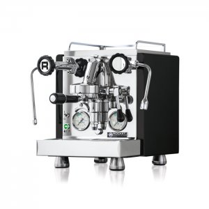 rocket espresso barista style coffee machine 1 group silver and black model