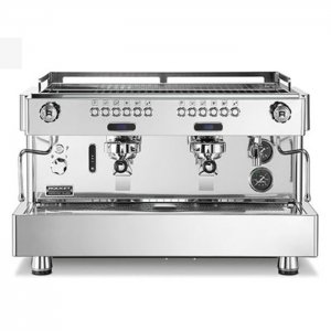 Rocket Espresso REA 2 group espresso machine chrome model front view