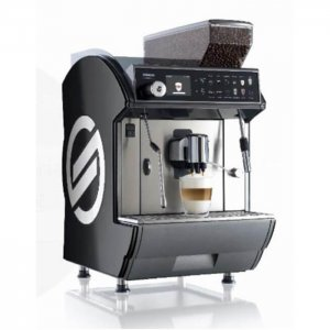 Saeco Idea Restyle Cappuccino bean to cup coffee machine side view black model