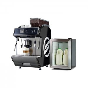 Saeco Idea Restyle Coffee bean to cup coffee machine with milk chiller side view