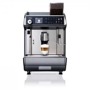 Saeco Idea Restyle Power Steam bean to cup coffee machine front view silver model