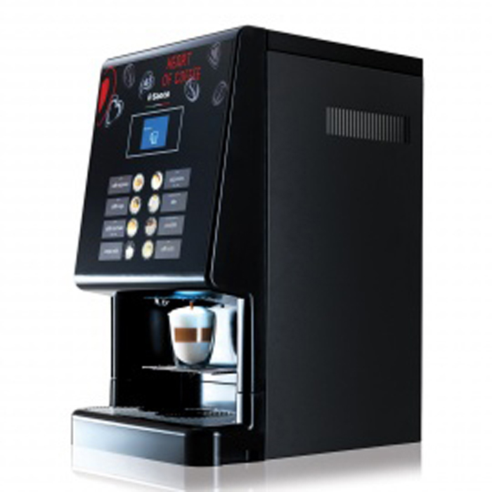 Saeco Phedra Evo Espresso bean to cup office coffee machine Side View