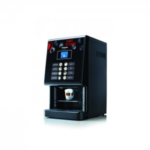Saeco Phedra Evo TTT bean to cup coffee machine side view black model