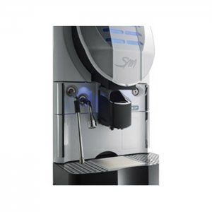 San Marco Plus 7 bean to cup coffee machine close up side view silver model