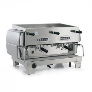 San Marco Series 80 2 Group Espresso Coffee Machine Silver Side View
