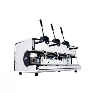 San Marco Series 85 Leva 3 Group Espresso Coffee Machine Side View Chrome