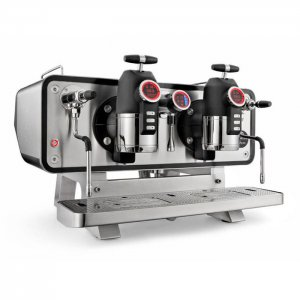 San Remo Opera 2 Group espresso machine Side View silver model