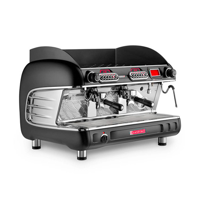 San Remo Verona RS 2 Group espresso machine side view black model