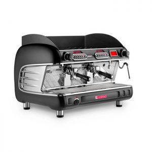 San Remo Verona RS 2 Group Espresso Coffee Machine Side View black model
