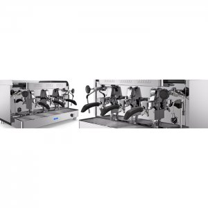 VBM Replica 2B 3 group espresso machine left and right side view silver model