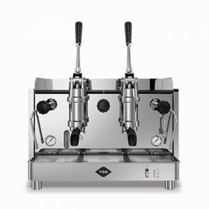 VBM Replica Pistone 2 group espresso machine front view chrome model