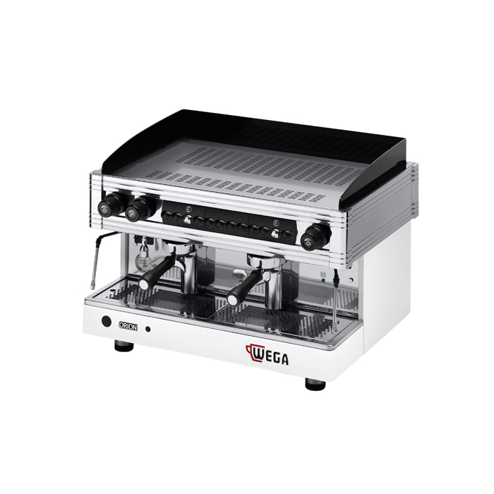 WEGA Orion 2 Group Espresso Coffee Machine Side View silver and black model
