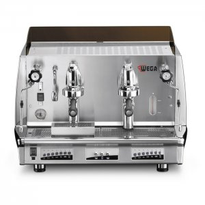 wega vela vintage barista style coffee machine 2 group silver model