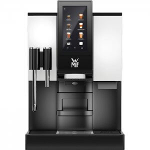 WMF 1100s bean to cup coffee machine black and silver model front view