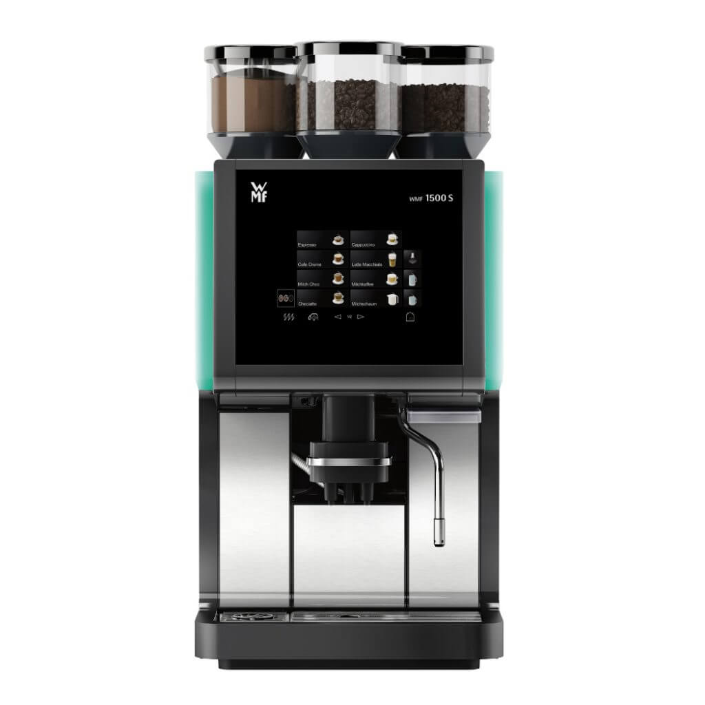 Black and Silver triple bean canister WMF 1500 Coffee Machine