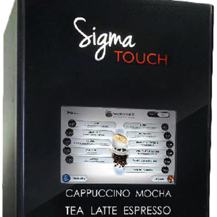 Westomatic Sigma Touch bean to cup coffee machine close up display screen